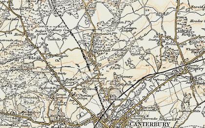 Old map of Allcroft Grange in 1898-1899