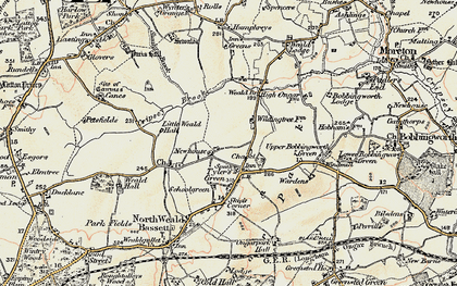 Old map of Ashlyns in 1898