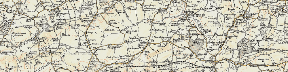 Old map of Wyldingtree in 1898