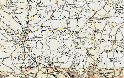 Old map of Tyler's Hill in 1897-1898