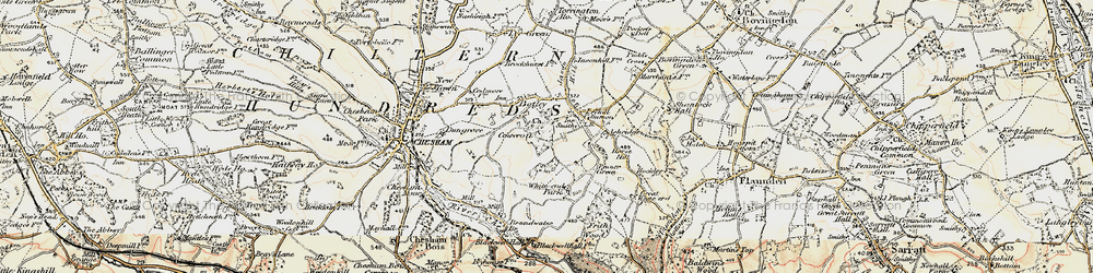 Old map of White End Park in 1897-1898