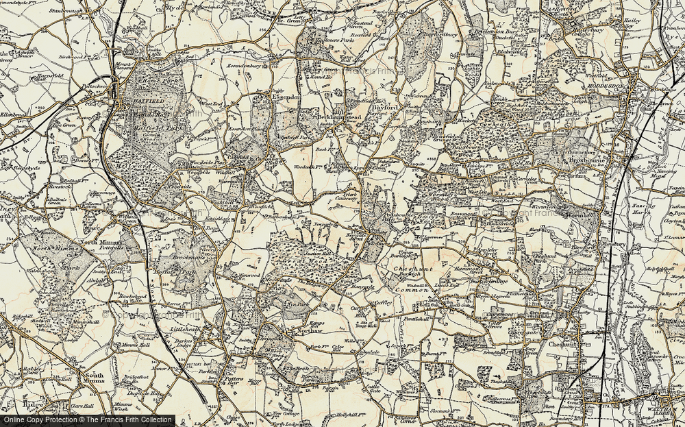 Old Map of Tylers Causeway, 1897-1898 in 1897-1898