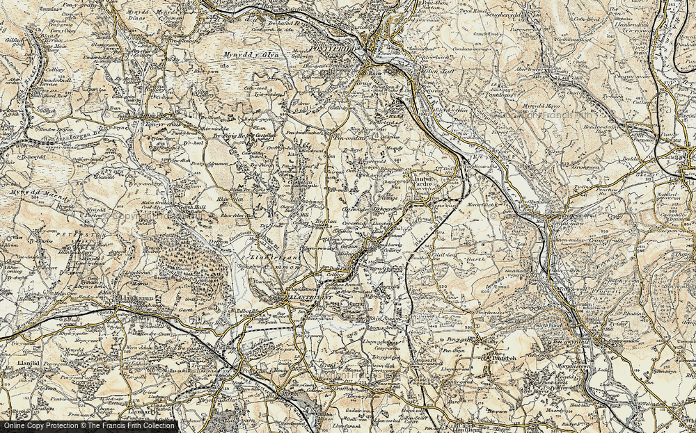 Old Map of Tynant, 1899-1900 in 1899-1900