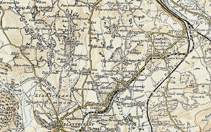 Old map of Tynant in 1899-1900