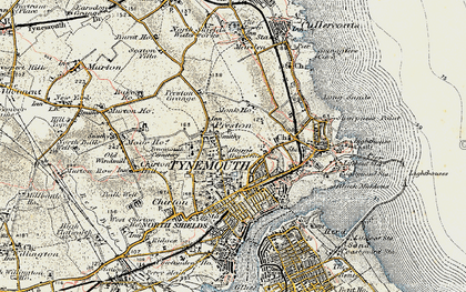Old map of Tynemouth in 1901-1903