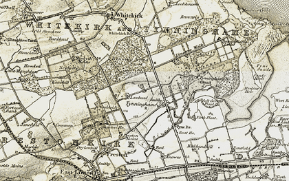 Old map of Limetree Walk in 1901-1906