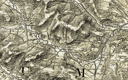Old map of Àird Linn in 1904-1905
