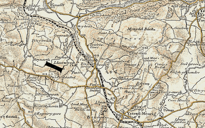 Old map of Ynys-Morgan in 1901-1903