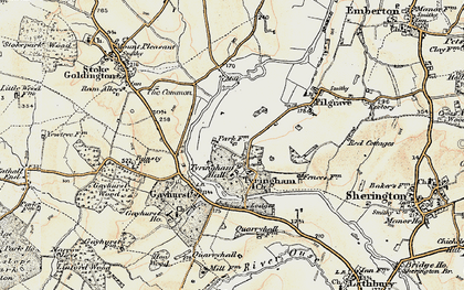 Old map of Tyringham in 1898-1901