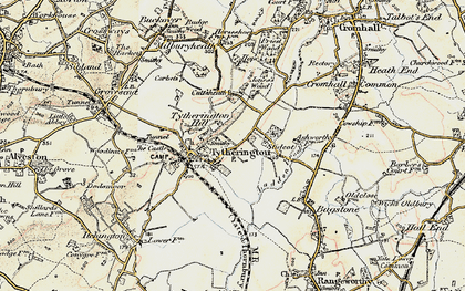 Old map of Baden Hill in 1899