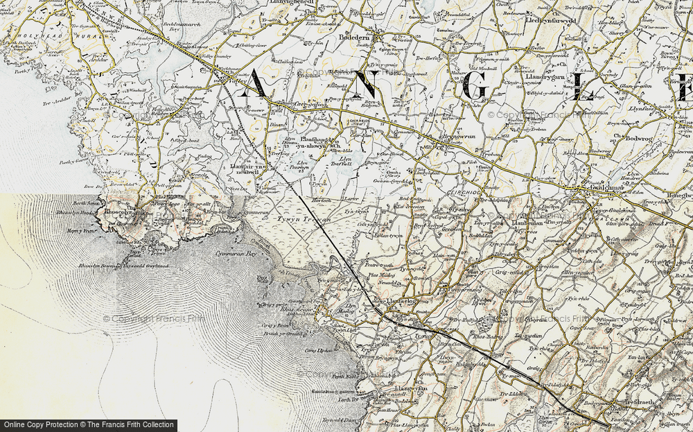 Old Map of Historic Map covering Afon Crigyll in 1903-1910