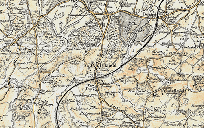 Old map of Uckfield in 1898