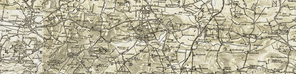 Old map of Ardmore in 1909-1910