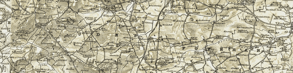 Old map of Alehouse in 1909-1910