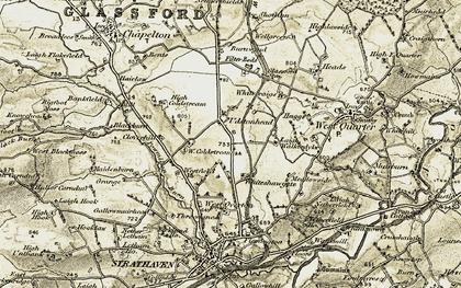 Old map of Westquarter Ho in 1904-1905