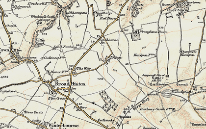 Old map of Barbury Hill in 1897-1899