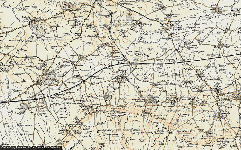 Old Map of Uffington, 1898-1899 in 1898-1899