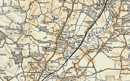 Old map of Ufford in 1898-1901