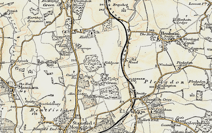 Old map of Alsa Lodge in 1898-1899