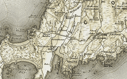 Old map of Leac Chogaidh in 1906-1911
