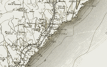 Old map of Wester Whale Geo in 1912