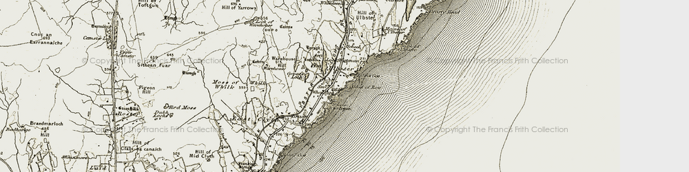 Old map of Whaligoe in 1912