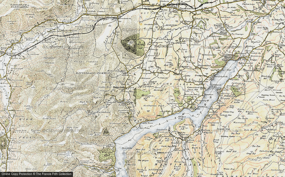 Old Map of Historic Map covering Todgill in 1901-1904