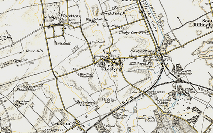 Old map of Ulceby in 1903-1908