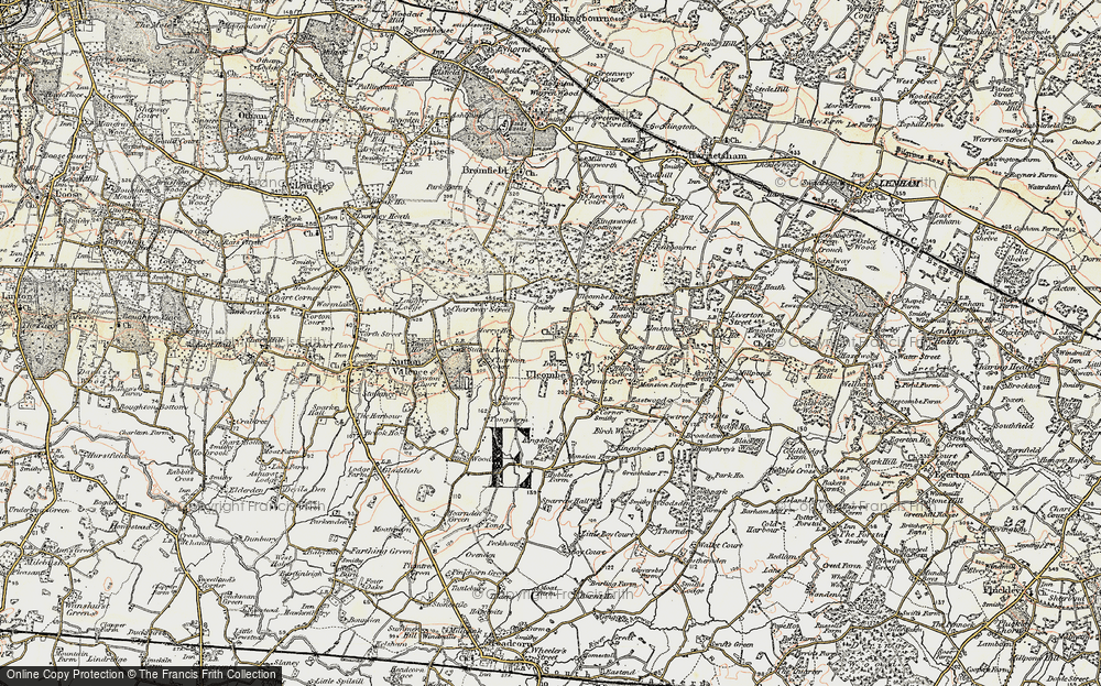 Old Map of Ulcombe, 1897-1898 in 1897-1898
