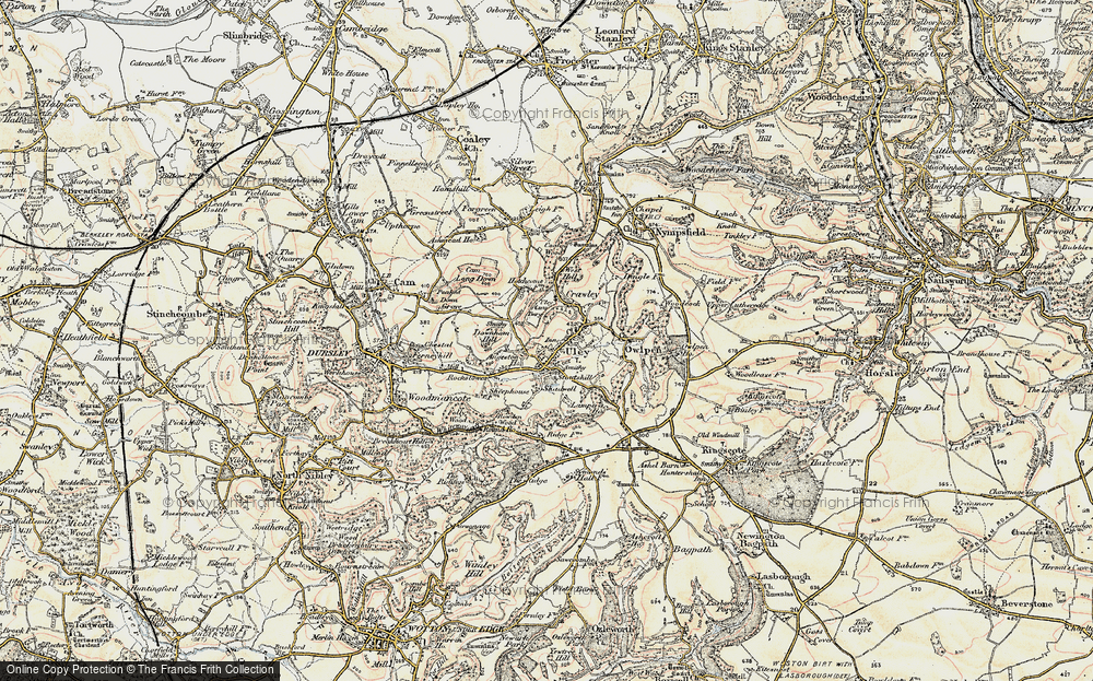 Old Map of Uley, 1898-1900 in 1898-1900