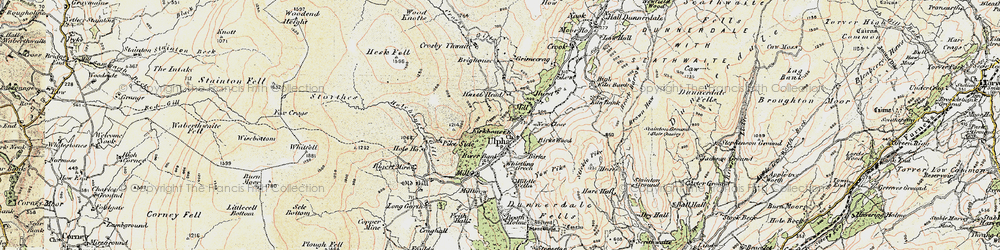Old map of Yew Pike in 1903-1904