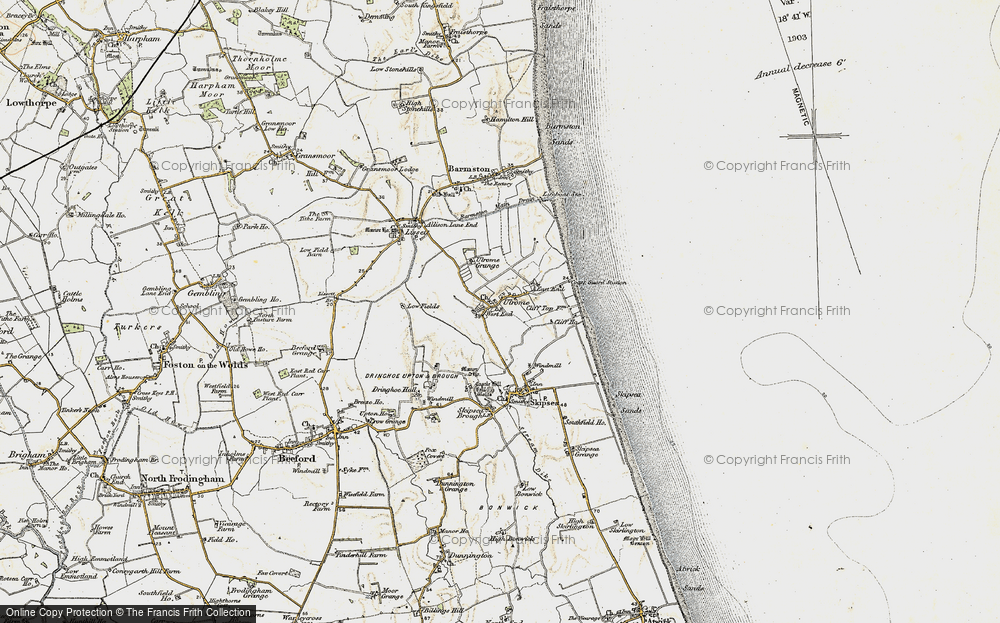 Old Map of Ulrome, 1903-1904 in 1903-1904