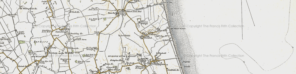 Old map of Ulrome in 1903-1904