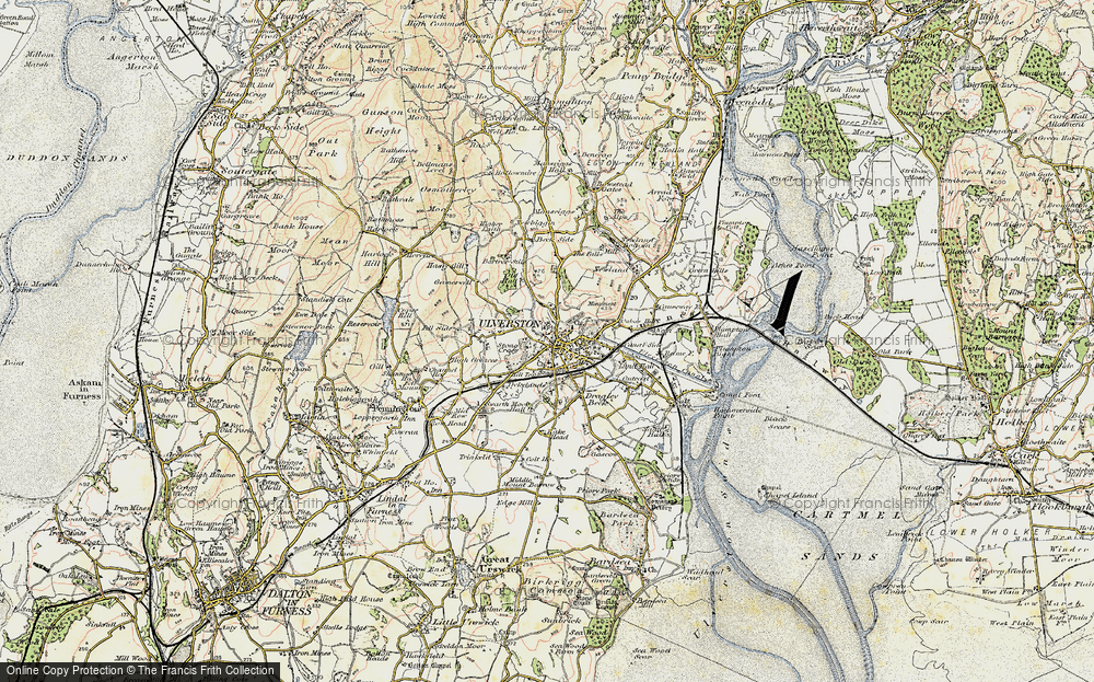 Old Map of Ulverston, 1903-1904 in 1903-1904