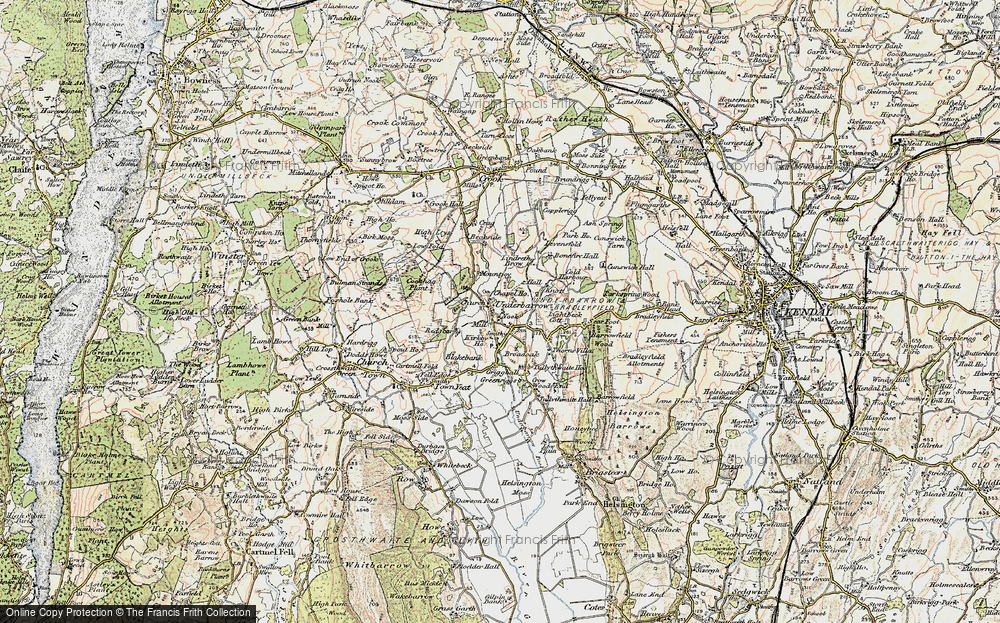 Old Map of Historic Map covering Lindreth Brow in 1903-1904