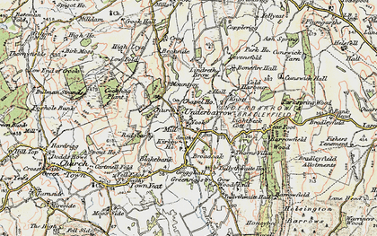Old map of Lindreth Brow in 1903-1904