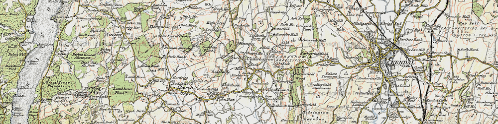 Old map of Redscar in 1903-1904