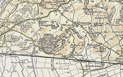 Old map of Underwood in 1899-1900