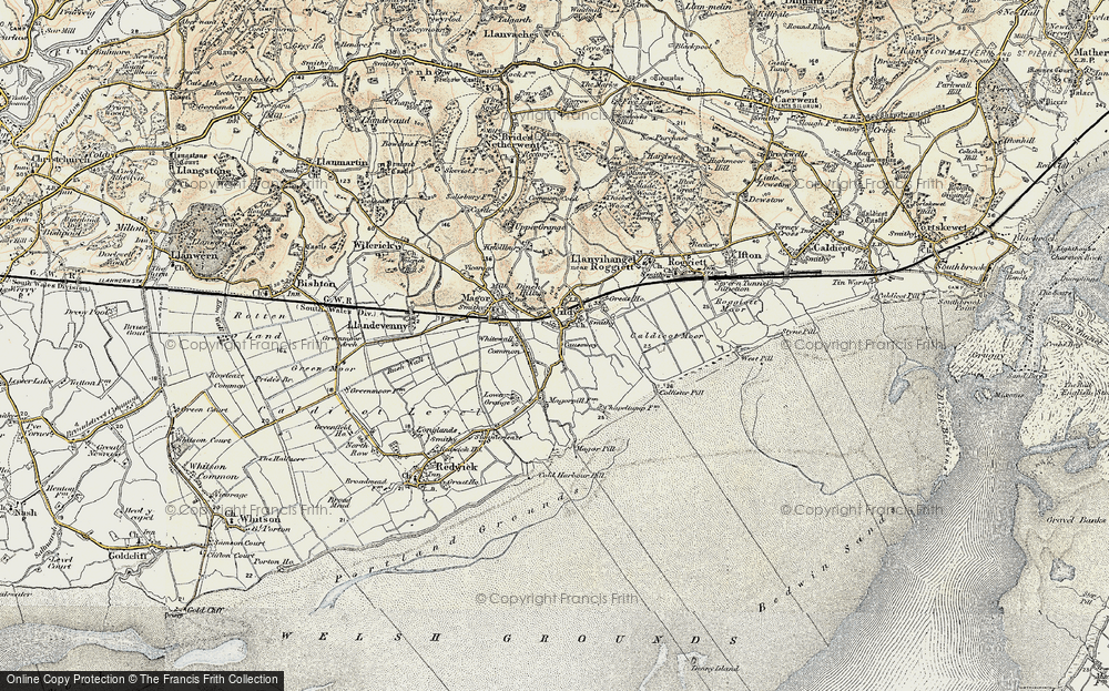 Old Map of Undy, 1899-1900 in 1899-1900