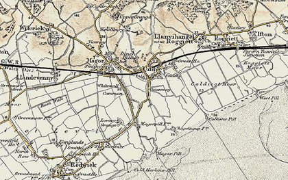 Old map of Undy in 1899-1900