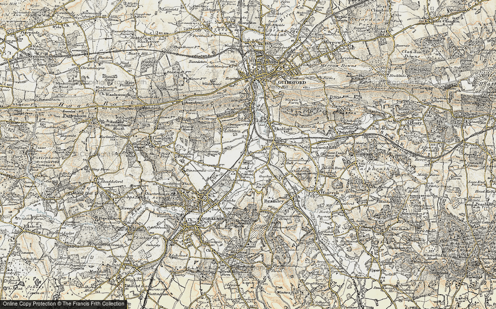Old Map of Unstead, 1898-1909 in 1898-1909