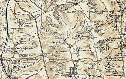 Old map of Ayles's Hill in 1899