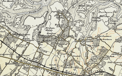 Old map of Upchurch in 1897-1898