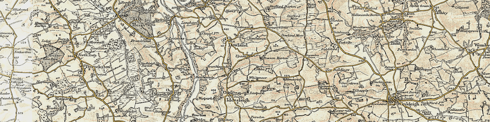Old map of Whitemoor in 1899-1900