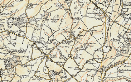 Old map of White Hills in 1897-1900