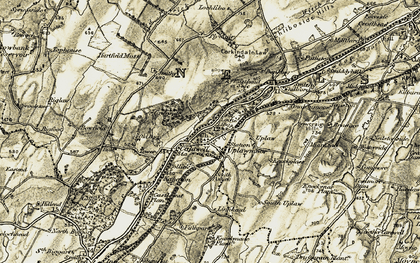 Old map of Windyhill in 1905-1906