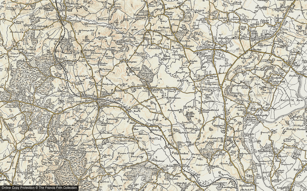 Old Map of Upleadon, 1899-1900 in 1899-1900