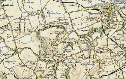 Old map of Upleatham in 1903-1904