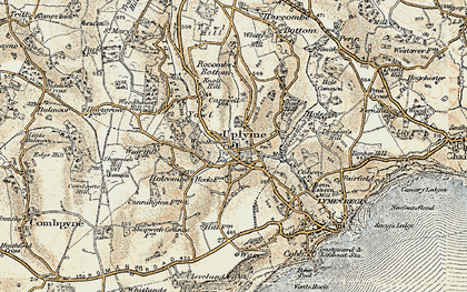 Old map of Uplyme in 1899