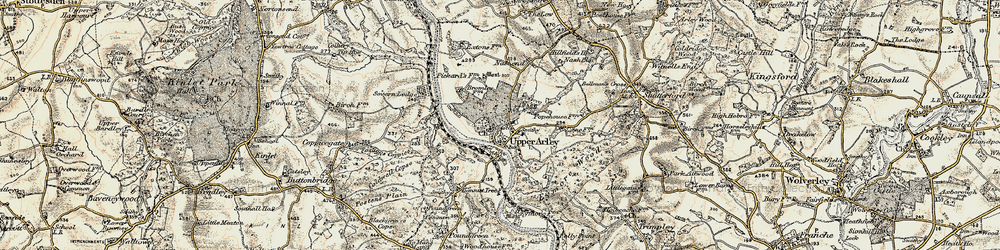 Old map of Upper Arley in 1901-1902